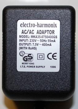 7.5V / 400mA European Power Adaptor