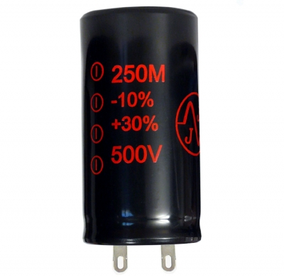 250Uf/500V JJ Electronic Radial Capacitor (RoHS)