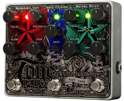 Tone Tattoo Analog Delay / Chorus / Distortion Multi-Effect