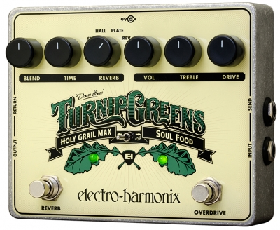 Turnip Greens Overdrive / Reverb Multi-Effect